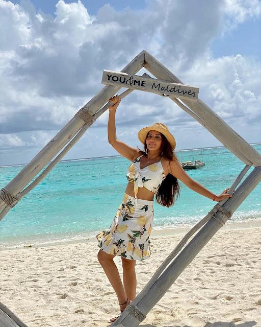 Monalisa Antara Biswas in Bikini at Maldives