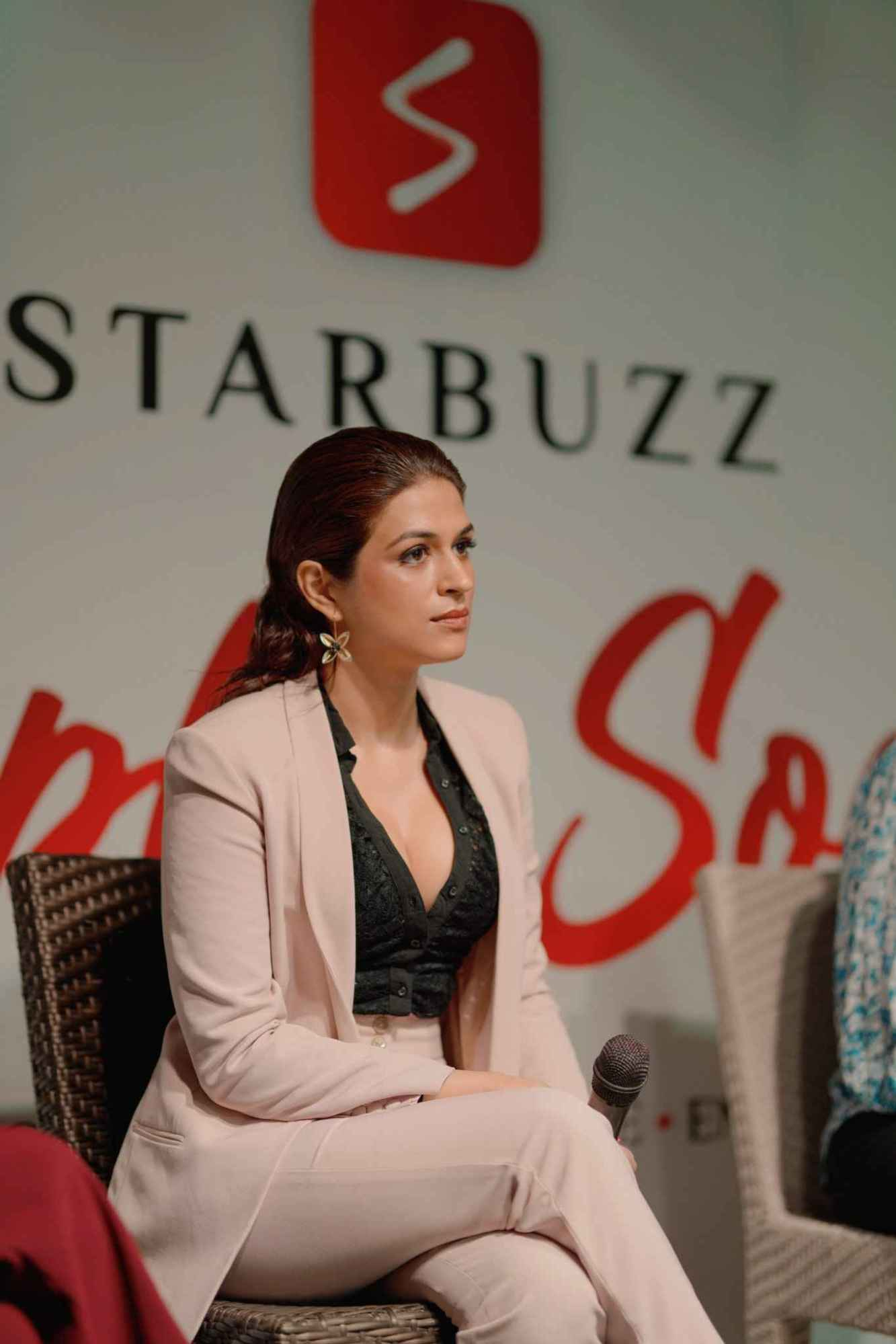 Actress Shraddha das Launched the Star Buzz app last week in Hyderabad