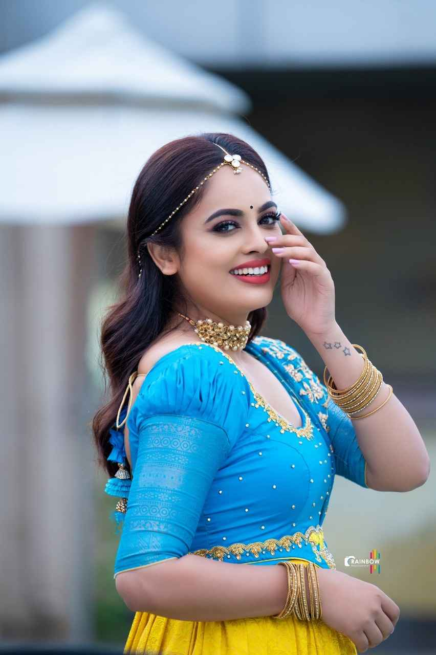 Actress Nandita Swetha Gorgeous in Traditional attire