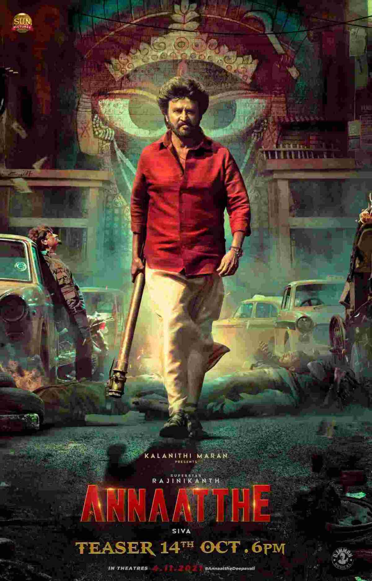 Annaatthe Official Teaser featuring Rajinikanth Nayanthara